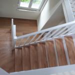 Escalier chêne et bois blanc