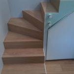Escalier chêne et métal blanc